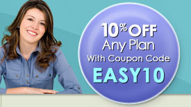 10% Off  Any Plan  with Coupon code EASY10